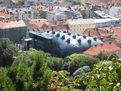 Das Kunsthaus von oben