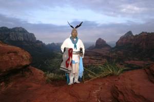 Uqualla vom Stamm der Havasupai auf den Bergen von Sedona
