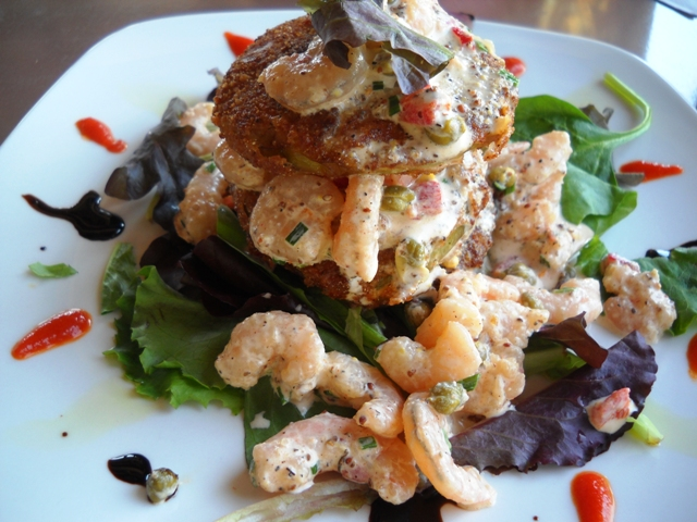 SouthernCuisine-ShrimpsFriedGreenTomatoes