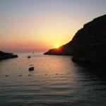 Sonnenuntergang überder Xlendi-Bay