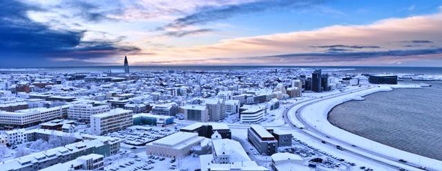 Winterliches Reykjavik