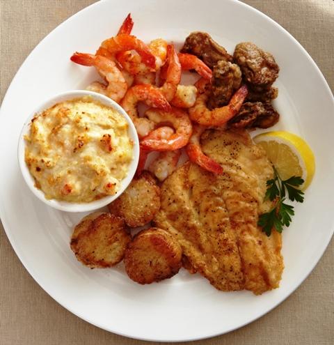 FoodWhitePlateBessemerBrightStarBroiledSeafoodPlatter