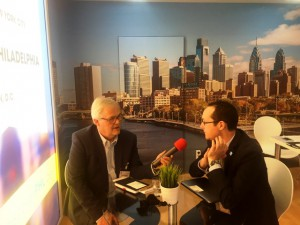 Interviewing Brian Said of PHL CVB in Berlin.