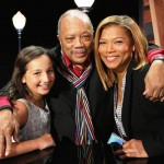 Emily mit Quincy Jones und Queen Latifa