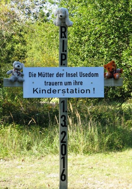 Protest-Kinderstation