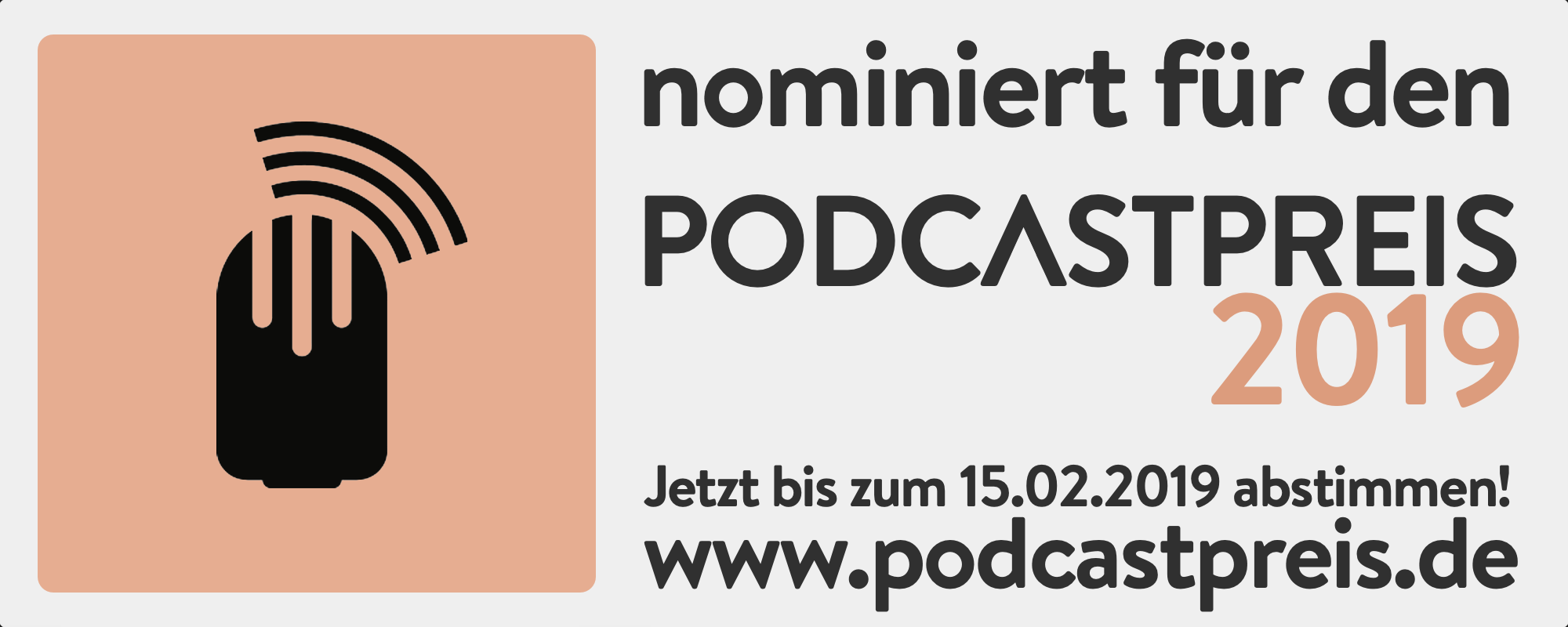 Logo PodcastPreis 2019