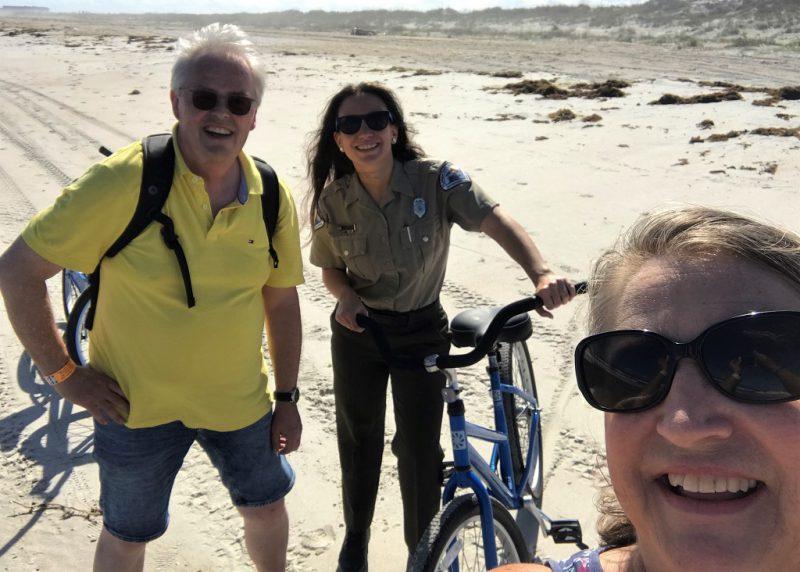 Nicht unanstrengend aber spaßig: Radtour mit Barbara und Rangerin Chanell