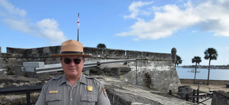 Allen Arnold, National Park Ranger, berichtet von Frühgeschichte und Castillo de San Marcos