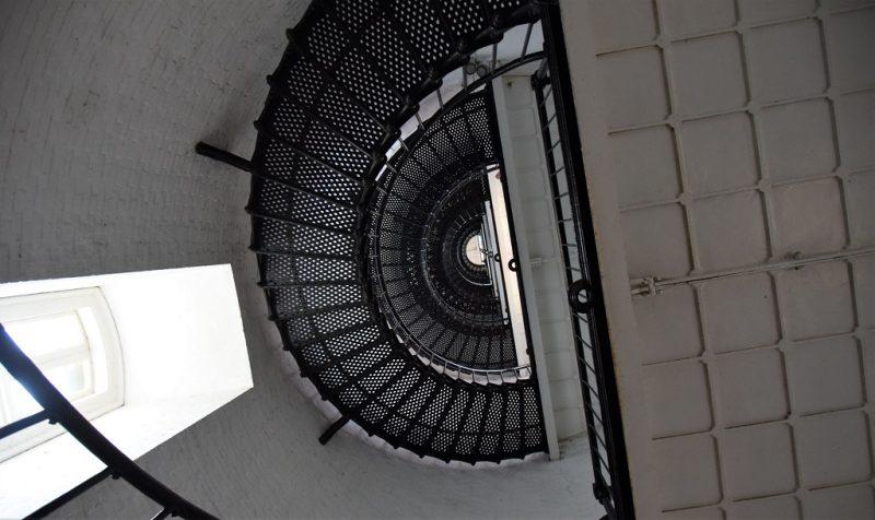 Heißes Öl musste nach oben getragen werden: Treppe